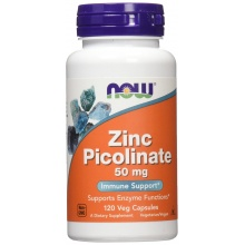 Цинк NOW Zinc Picolinate 50 мг 120 капсул