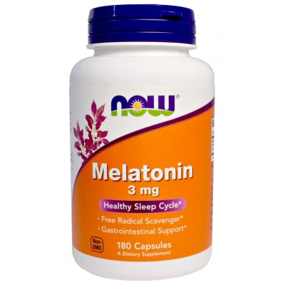 Антиоксидант NOW Melatonin 3 mg 180 caps